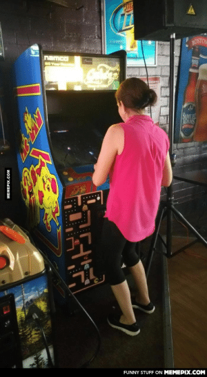 My fiancé's 50 year old mother reliving her college days at a dive bar. Notice her gaming stance!omg-humor.tumblr.com: BOSTON  GREAT ST  namco  BOYer  SUREL  SCHEDULE  SAMUEL  ADAMS  OSTON L  L&&6  .....  FUNNY STUFF ON MEMEPIX.COM  MEMEPIX.COM My fiancé's 50 year old mother reliving her college days at a dive bar. Notice her gaming stance!omg-humor.tumblr.com