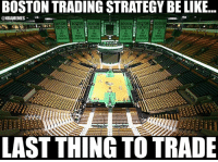 Nba, Nationals, and Trading: BOSTON TRADING STRATEGY BE LIKE...  ONBAMEMES  BOSTON BOSON a BOSTON  CELTICS  CELTICS  LAST THING TO TRADE The Boston Celtics' Trading Strategy! #Celtics Nation Credit: Saif AbuQurah