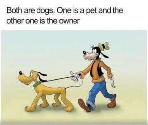 Dogs, Powers, and Pet: Both are dogs. One is a pet and the  other one is the owner The ideea of slaves explained to new colonial powers (1500 - colorised)