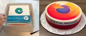 Both Google and Firefox sent cakes to Microsoft's Edge team: Both Google and Firefox sent cakes to Microsoft's Edge team