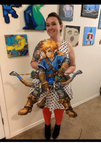 Link, Awesome, and Perler Beads: Botw Link made with perler beads! Credit to AbyssWolf for this awesome pattern!