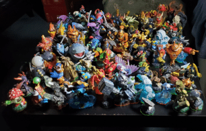 Bought a box of Skylanders at a garage sale for $50. I don't play the game but impressed with how cool some of these figures are.: Bought a box of Skylanders at a garage sale for $50. I don't play the game but impressed with how cool some of these figures are.