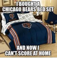 LMAO  NFL Memes: BOUGHT A  CHICAGO BEARS BEDSET  AND NOW I  CANT SCORE ATHOME LMAO  NFL Memes