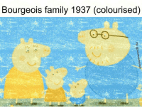Marxist and Bourgeois: Bourgeois family 1937 (colourised)