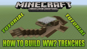 Minecraft gulag mod: BOx ONE EDITION  HOW TO BUILD WW2TRENCHES Minecraft gulag mod