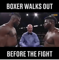 Memes, Turn Up, and Work: BOXER WALKS OUT  FS1  BEFORE THE FIGHT When you turn up to work and just can't be bothered... 😂 | Follow @SPORTbible now! Credit: @PremierBoxing