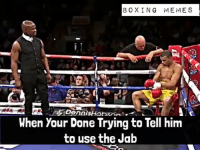 Boxing, Memes, and 🤖: BOXING MEMES  When Your Done Trying to Tell hinm  to use the Jab That Moment your trainer Had Enough 🤣🙄 boxingmemes