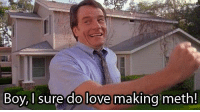 What if, at the end of Breaking Bad, they drop Bryan Cranston into witness protection and that's the beginning of Malcom in the Middle?: Boy, I sure do love making meth! What if, at the end of Breaking Bad, they drop Bryan Cranston into witness protection and that's the beginning of Malcom in the Middle?