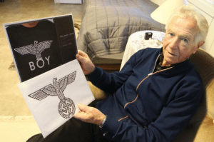 """Love, Target, and Tumblr: Boy London- Gesr woundedkisses:  ed-ucated:  otadzbinaa:  riesen-love:  exanimatio:  croowley:  That man you see there, he is a 92 year old veteran from Norway, who was tortured by the nazis during world war II.The upper picture is the picture of the """"BOY London"""" logo, that's so popular now days.Then, on the picture under, is a known symbol that were used under by the nazis in World War II.Now you can all think of what you're really wearing.  finally someone made a post about it, everyone's running around with the Third Reich Eagle on their chests  think about it  yes make it known. nobody ever talks about it.  Signal boost  …I thought everybody already knew this?"""