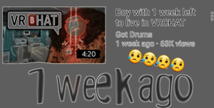 Iphone, Wee, and Live: Boy with 1 week left 8  to live in VRCHAT  Got Drums  1 week ago 63K views  VR BHAT  4:20  Wee Boi needs an iphone charger
