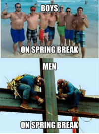 Spring Break: BOYS  ON SPRING BREAK  MEN  ONSPRING BREAK