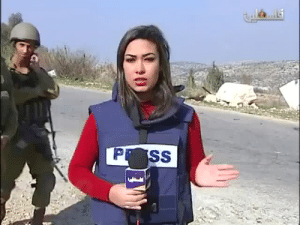 "Muslim, News, and Soldiers: boytshik: palestinianliberator:   fleurissante:  uonthaa:  pxlestine:  [WATCH] Palestine TV female reporter is being harassed on air by Israeli occupation terrorists in Aboud, West Bank  Men are disgusting … And these soldiers are right at the top …   scum of the earth   It gets even worse when you listen to what she's trying to report. She's saying that the policy of collective punishment pursued by the Israeli government is a racist endeavor meant to strangle and suffocate the Palestinian citizens into submission, and the IDF scum are berating her, mocking her, and trying to tell her that she's wrong [while the cameraman tries to encourage her to ignore them and keep on reporting] The soldier to our left is continuously repeating ""Allahu Akbar"" in a taunting manner, while also mocking the Muslim call to prayer. IDF scum are literally berating a news reporter with racist and xenophobic taunts AS she's reporting about their racist practices   Fuck Israel. Fuck the IDF."