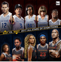 All Star, Squad, and Best: br  3  ALL STAR  ALL STA ALL STAR  ALL STAR  12  EAST VS. WEST 2017 ALL-STARS OF EVERYTHING  LL STAR  ALL STAR  23  10 The best of the best. Pick your squad.