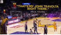 "Nick Young, Sports, and John Travolta: br  8:26  BUD LIGHT  ""THAT'S MY JOHN TRAVOLTA  THTISSOT  RIGHT THERE.""  NICK YOUNG  AAA com  20 Saturday Night Fever 2 starring Swaggy P! 🕺"