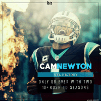 Panthers win and Cam Newton makes history. AnotherOne: br  AMNEWT  NEL HISTORY  ONLY BEVER WITH TWO  10 RUSH TD SEASON S  H/T @BR INSIGHTS Panthers win and Cam Newton makes history. AnotherOne
