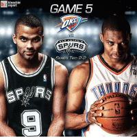 Who will take a 3-2 series lead tonight, the Spurs or the Thunder?: br bleacher  report  GAME 5  VS  ANTON  SP PTS  SERIES TIED 2-2 Who will take a 3-2 series lead tonight, the Spurs or the Thunder?