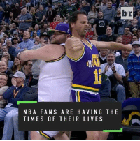 Sports, Br Nba, and Seasons: br  NBA FANS ARE HAVING THE  TIMES OF THEIR LIVES NBA fans have stepped their game up this season (➡️ @mcdonalds)