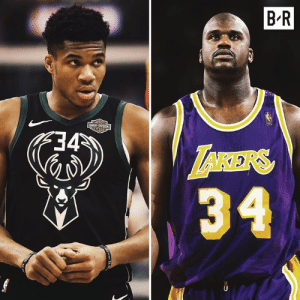 Shaq, Diesel, and Ppg: B'R  RARİft  34 Is Giannis the modern Shaq?  Freak this season (age 24) 27.5 PPG | 12.7 REB | 6.0 AST | 58 FG%  Diesel in 1996-97 (age 24) 26.2 PPG | 12.5 REB | 3.1 AST | 55.7 FG%
