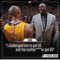 "Kobe rose to the occasion one last time ⚫️🐍: br  SHAQ  TT Challenged him fO gef bl  and the mother  er got 60""  via @Rachel Nichols Kobe rose to the occasion one last time ⚫️🐍"