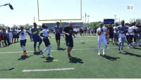 When the 40-yard dash goes wrong... RunningManChallenge: br When the 40-yard dash goes wrong... RunningManChallenge