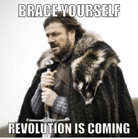With the shenanigans revolving around this election, if Hillary or Trump get elected...: BRACE YOURSELF  REVOLUTION IS COMING With the shenanigans revolving around this election, if Hillary or Trump get elected...