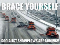 Memes, Braces, and Libertarianism: BRACE YOURSELF  TTI  SOCIALISTSNOWPLOWS ARE COMING!! Since we have yet to see any libertarians out plowing the roads for free..