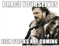 Lent is coming: BRACE YOURSELVES  FISH STICKS ARE COMING  imgur Lent is coming
