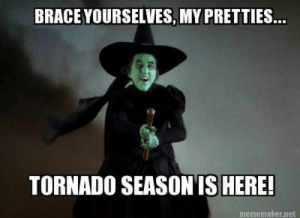 Wicked Witch Of The West Meme | www.picturesso.com: BRACE YOURSELVES, MY PRETTIES...  TORNADO SEASONIS HERE!  mememaker.net Wicked Witch Of The West Meme | www.picturesso.com