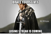 Nba, Trinidad, and Brace: BRACE YOURSELVES  ONBAMannes  LOSING STREAK is COMING Tough luck, Lakers Fans! Credit: Tommy Trinidad Zobel