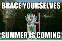 quick: BRACE YOURSELVES  SUMMER IS COMING  quick meme com