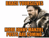 Espn, Johnny Manziel, and Nfl: BRACEYOURSELVES  NFLMEMEZ  MORENO  POSTSARECOMING After just ONE preseason game, ESPN is all over the Johnny Manziel BANDWAGON! Credit: Kameron Bourgeois