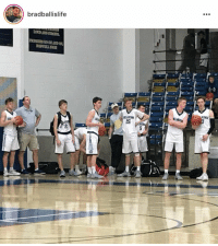 Basketball, Squad, and White People: bradballislife  2  2s  10 When you see this AAU squad you know they're full pressing the whole game and pulling 40 3's #WhiteBballSuccess (via @BradBallisLife) https://t.co/T4I7bNfpQR