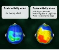 *fortunate son intensifies*: Brain activity when rain activity when  im trying to pass the  podracing level in Lego Star  Wars The Complete Saga  i'm taking a test *fortunate son intensifies*