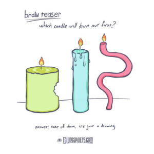 Omg, Tumblr, and Blog: braİN teaser  which candle wil b  our st?  answer: none of them, irsj  a draing  AROSS omg-images:  9 in 10 get it wrong! [oc]
