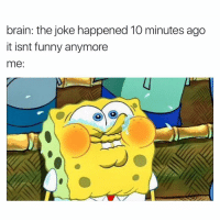 Me 😂: brain: the joke happened 10 minutes ago  it isnt funny anymore  me Me 😂