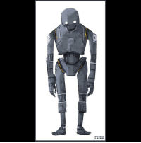 tall and salty starwars k2so rogueone art illustration: BRANDON  LARISH tall and salty starwars k2so rogueone art illustration