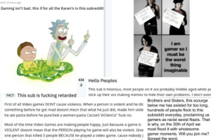 Brave gamers lead a brigade against r/banvideogames... an obviously satirical subreddit: Brave gamers lead a brigade against r/banvideogames... an obviously satirical subreddit