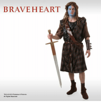 Halloween, Memes, and Http: BRAVEHEART  TM & 2015 Paramount Pictures  All Rights Reserved. Unleash your inner Scotsman! Paint your face and grab an official Braveheart costume this Halloween. http://j.mp/BHCostume