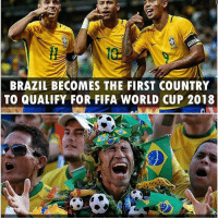 Congratulation Brazil! 👏💪 👉Follow @highlights for more! 🔥 . . . ronaldo cr7 messi neymar bale suarez benzema ozil goal goalazo realmadrid barcelona bayern juventus soccer football futbol transfer pogba reus liverpool 433 chelsea manchestercity manchesterunited l4l bpl bbva aubameyang arsenal: BRAZIL BECOMES THE FIRST COUNTRY  TO QUALIFY FOR FIFA WORLD CUP 2018 Congratulation Brazil! 👏💪 👉Follow @highlights for more! 🔥 . . . ronaldo cr7 messi neymar bale suarez benzema ozil goal goalazo realmadrid barcelona bayern juventus soccer football futbol transfer pogba reus liverpool 433 chelsea manchestercity manchesterunited l4l bpl bbva aubameyang arsenal