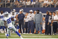 Dallas Cowboys, Ezekiel, and Breaking: BREAKING: Cameras spotted Ezekiel Elliott trying to sneak onto the Cowboys sideline. https://t.co/jDtxuNXBoq