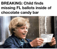 (GC): BREAKING: Child finds  missing FL ballots inside of  chocolate candy bar (GC)