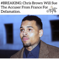 "Being Alone, Chris Brown, and Lawyer:  #BREAKING: Chris Brown Will Sue  The Accuser From France For  Defamation. Chris Brown is going to sue the 24-year-old women that accused him of rape in France for defamation.⁣ -⁣ The women claimed that Chris Brown has took advantage of her but according to Chris Brown and other sources, the two were never alone together. 20 other people were reportedly them the entire time.⁣ -⁣ Chris Brown's lawyer had this to say,⁣ ⁣ ""Chris Brown is free. No lawsuits were filed against him. He vigorously challenges the charges against him. A complaint for slanderous denunciation will be filed tomorrow with the public prosecutor of Paris.""⁣ -⁣ Raptvstaff: @thatkidcm⁣ 📸 @apnews"