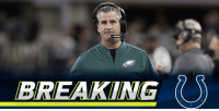 Indianapolis Colts, Head, and Memes: BREAKING .@Colts agree to terms with Frank Reich to become next head coach: https://t.co/kVAp9aHXwQ (via @MikeGarafolo) https://t.co/nr53dCjwpy