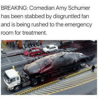 All Lives Matter, America, and Amy Schumer: BREAKING: Comedian Amy Schumer  has been stabbed by disgruntled fan  and is being rushed to the emergency  room for treatment RIP @amyschumer ---- Follow my Personal - @JesseRyan.US Follow our Back Up - @KeepAmerica.US Shop today - www.KAAGEAR.com FOLLOW The SQUAD 🔴 @too_savage_for_democrats 🔵 @the_typical_liberal 🔴 @conservativemovement 🔵 @eaglewatchpolitics 🇺🇸 KeepAmericaAmerican 🇺🇸 Deplorable StupidDemocrats Resist MAGA ANTIFA America YeeYee reddit HillaryForPrison Conservative BuildThatWall Trump DonaldTrump TrumpPence2016 BlueLivesMatter AllLivesMatter Patriot LiberalLogic killary
