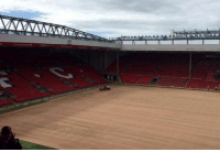 Soccer, Liverpool F.C., and Lift: BREAKING: In a last ditch attempt to save their season, Liverpool have dug up the pitch to plant potatoes. That way they'll have something to lift in May. https://t.co/AjThxdWud2