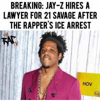 "Children, Jay, and Jay Z: BREAKING: JAY-Z HIRES A  LAWYER FOR 21 SAVAGE AFTE  THE RAPPER'S ICE ARREST  HOV  MANDELA  GLOB  CITIZE  ESTI Jay Z is backing and supporting 21 Savage after he was arrested by ICE for overstaying his welcome in the US.⁣ -⁣ Jay Z has hired an attorney Alex Piro to help 21 Savage with his legal battle against ICE.⁣ -⁣ Spiro tells TMZ, ""We are not going to stop until he is released, bonded out or in front of a judge ... What we have here is someone who overstayed their Visa with an application pending for 4 years - not a convicted criminal that needs to be detained and removed but, by all accounts a wonderful person, father, and entertainer who has a marijuana offense which was vacated and sealed.""⁣ -⁣ Jay also had this to say,⁣ ⁣ ""The arrest and detention of 21 Savage ""an absolute travesty, U Visa application has been pending for years.""⁣ ⁣ He continued, ""In addition to being a successful recording artist, 21 deserves to be reunited with his children immediately.""⁣ ⁣ -⁣ RapTVSTAFF: @thatkidcm⁣ 📸 @kodaklens"