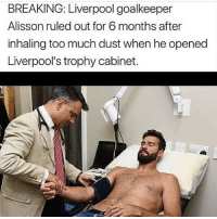 Will Liverpool win the Premier League this year?🤔 Get your own authentic premier league superstar kit for only $39.99🤯Today only, 50% off😵 - ✅Fifa certified ✅Authentic logos and lettering ✅Machine washable - Hurry now they are selling out quick! (Shop Now Link In Bio): BREAKING: Liverpool goalkeeper  Alisson ruled out for 6 months after  inhaling too much dust when he opened  Liverpool's trophy cabinet. Will Liverpool win the Premier League this year?🤔 Get your own authentic premier league superstar kit for only $39.99🤯Today only, 50% off😵 - ✅Fifa certified ✅Authentic logos and lettering ✅Machine washable - Hurry now they are selling out quick! (Shop Now Link In Bio)