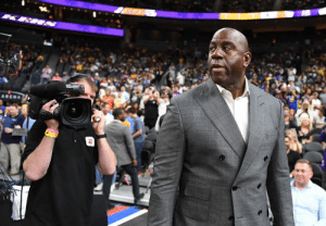 Breaking: Magic Johnson has stepped down from President of Basketball Ops of the Lakers: Breaking: Magic Johnson has stepped down from President of Basketball Ops of the Lakers