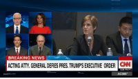 """Lawyer, Memes, and Lawyers: BREAKING NEWS  ACTING ATTY GENERAL DEFIES PRES, TRUMPISEXECUTIVE ORDER  CNN  5:05 PM PT  AC360° Alan Dershowitz says acting Attorney General Sally Yates """"made a serious mistake"""" telling Justice Department lawyers not to make legal arguments defending President Donald J. Trump's executive order on immigration and refugees. http://cnn.it/2joEAPB"""