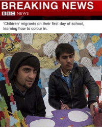 """These the mf hombres trump was talkin about 😤😂 @staggering • ➫➫➫ Follow @Staggering for more funny posts daily!: BREAKING NEWS  BBC NEWS  """"Children' migrants on their first day of school  learning how to colour in These the mf hombres trump was talkin about 😤😂 @staggering • ➫➫➫ Follow @Staggering for more funny posts daily!"""